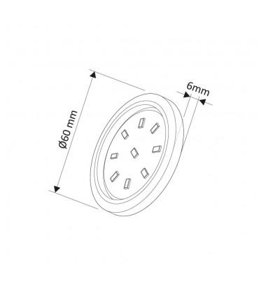 Design Light under cabinet ORBIT XL LED light 3W size