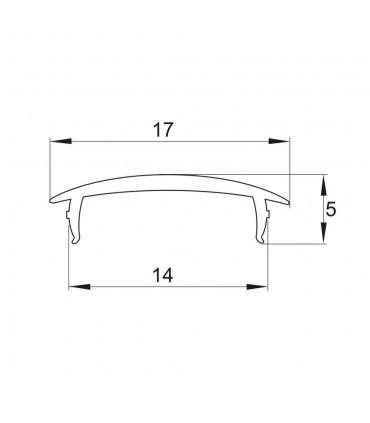 ALU-LED 1m aluminium profile P1 P2 P3 P4 diffuser - size