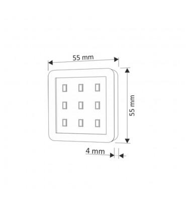 Design Light under cabinet SQUARE LED light 2.5W - size