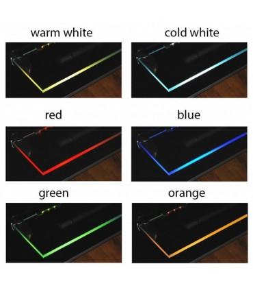 Design Light steel single colour LED clips for glass shelving - colours