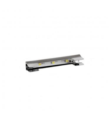 Design Light steel single colour LED clips for glass shelving