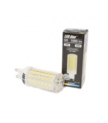 LED line® G9 ceramic LED light bulb SMD 12W - cold white