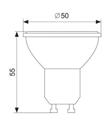 MAX-LED GU10 LED light bulb SMD 5W size