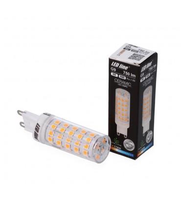 LED line® G9 ceramic LED light bulb SMD 8W -