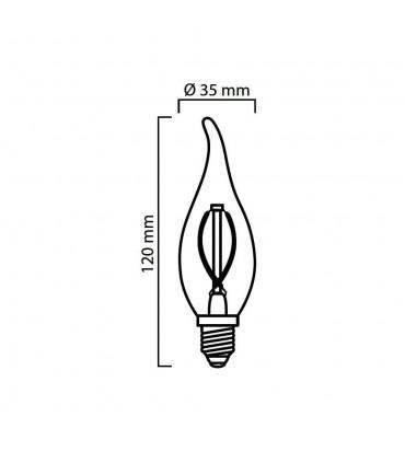 LED line® E14 flame candle light bulb F35 filament -