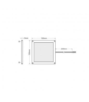 Design Light under cabinet LED light panel FOTON 3W - product size