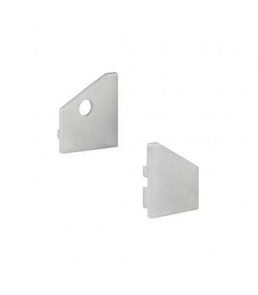 Design Light aluminium profile TRI-LINE MINI end caps - silver
