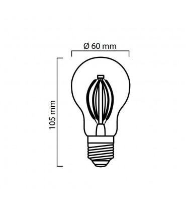 LED line® E27 light bulb A60 filament 8W dimmable -