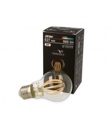 LED line® E27 light bulb A60 filament 8W dimmable warm white