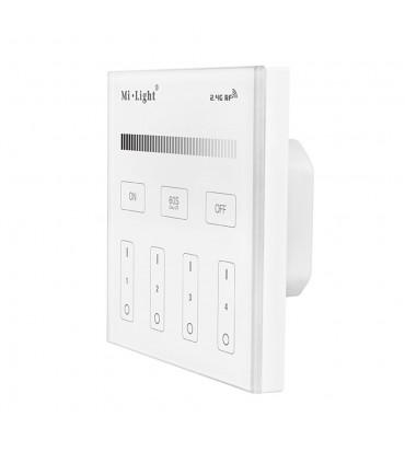 Mi-Light 4-zone brightness dimming smart panel remote controller T1