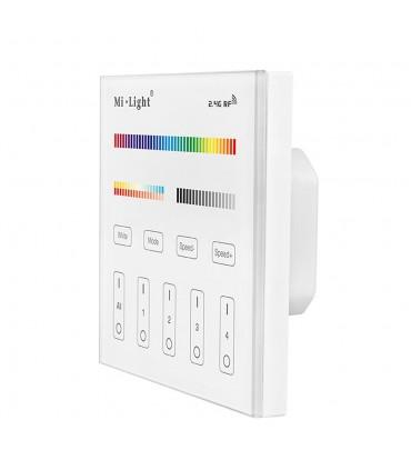 Mi-Light 4-zone RGB+CCT smart panel remote controller T4