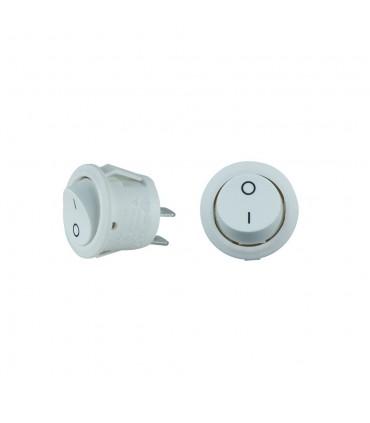 Design Light round rocker switch white