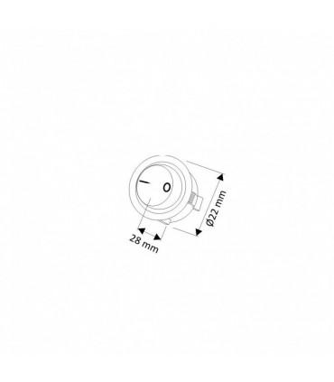 Design Light round rocker switch size