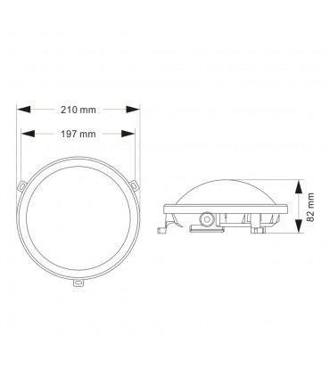 Outdoor oval bulkhead 12w neutral white