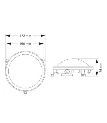 Outdoor oval bulkhead 6w neutral white