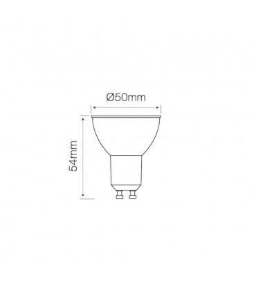 LED line® GU10 spotlight bulb 60° SMD 5,5W dimmable - size