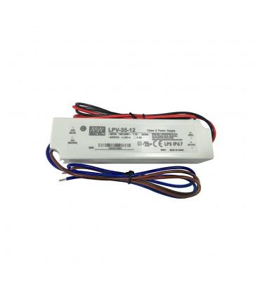Mean Well LPV-35-12 LED power supply 12V 36W IP67