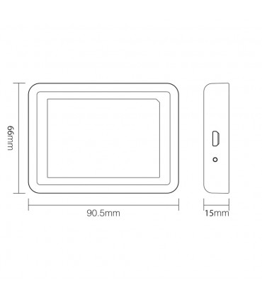 Mi-Light 2.4GHz gateway WL-Box1 - size
