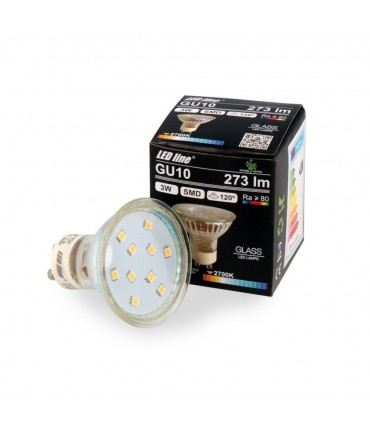 LED line® GU10 LED bulb 120° 3W 273lm - warm white