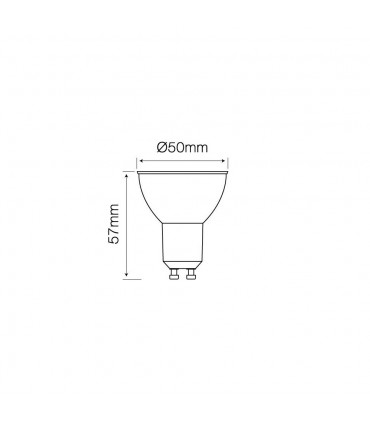 LED line® GU10 glass LED bulb 120° 5W 450lm - size