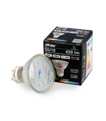 LED line® GU10 glass LED bulb 120° 5W 450lm - warm white