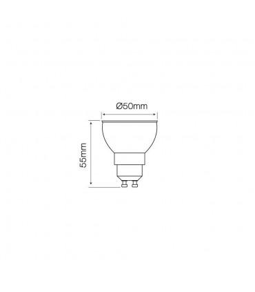 LED line® GU10 dimmable spotlight bulb SMD 10W - size