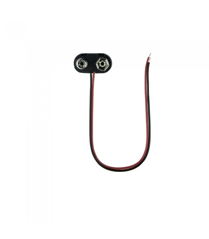 9V black battery snap connector -