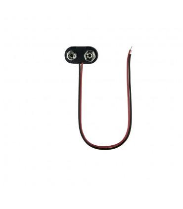 9V black battery snap connector
