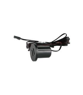 DESIGN LIGHT 2m dual USB socket black -