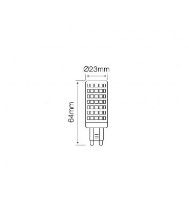 LED line® G9 ceramic LED light bulb SMD 12W -