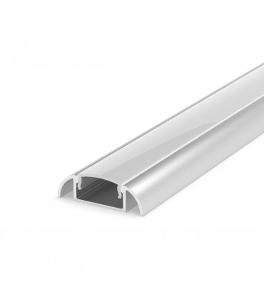 TECH LIGHT 1m surface aluminium LED profile P2-1 - silver with milky cover