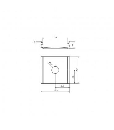DESIGN LIGHT aluminium profile LINE MINI TRI-LINE MINI mounting brackets - size