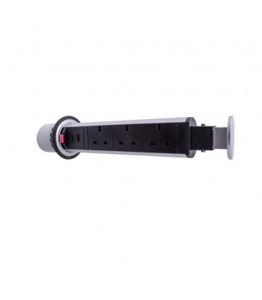 Design Light 3 sockets 2 USB ports LIFT BOX desk extension -