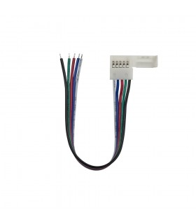 12mm RGBW 5 pin wire connector -