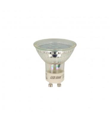 4000K neutral white light GU10 1W LED bulb made of glass
