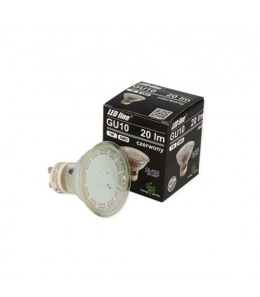 LED line® GU10 spotlight bulb SMD 1W red. 10 times less energy consumption The most energy-efficient source of lighting