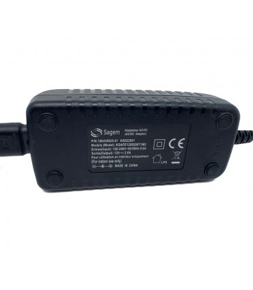 SAGEM 12V 24W 2A 2.1x5.5 UK power supply
