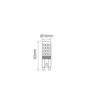 LED line® G9 ceramic LED light bulb SMD 4W
