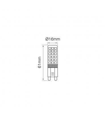 LED line® G9 ceramic LED light bulb SMD 6W