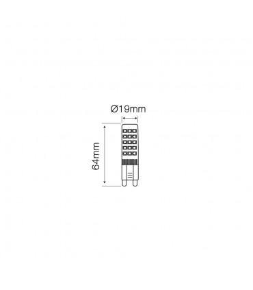 LED line® G9 ceramic LED light bulb SMD 8W