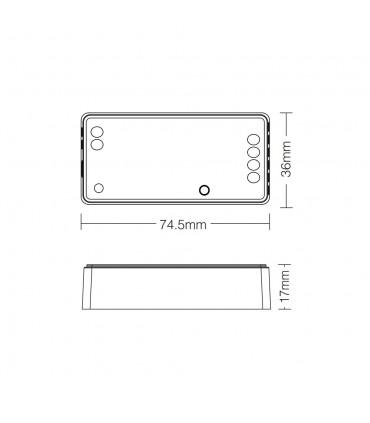 MiBoxer RGB+CCT LED controller (Zigbee 3.0) FUT039Z - size