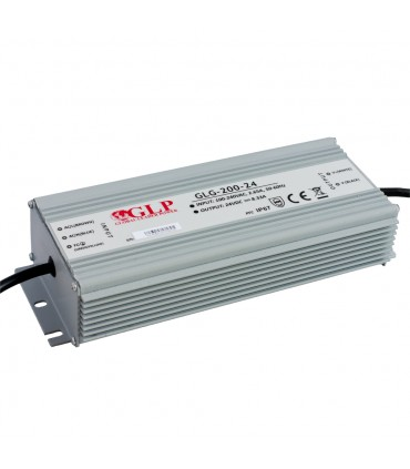 GLP waterproof switching power supply GLG-200-24 200W 24V 8.33A IP67