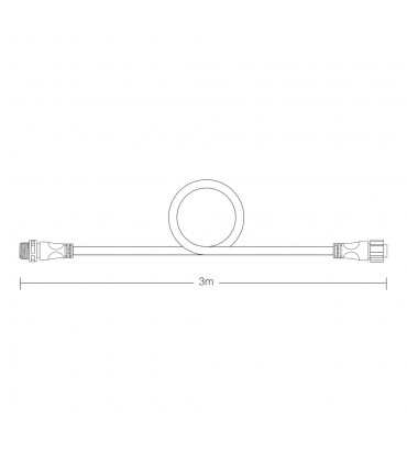 MiBoxer 3m long cable for FUTC08 size