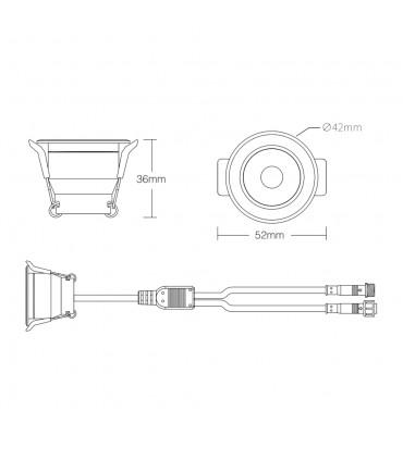 MiBoxer 3W dual white LED spotlight SL2-12