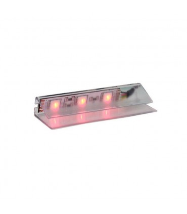 DESIGN LIGHT LED PVC RGB clip for glass shelving - red