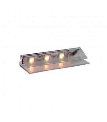 DESIGN LIGHT LED PVC RGB clip for glass shelving - green