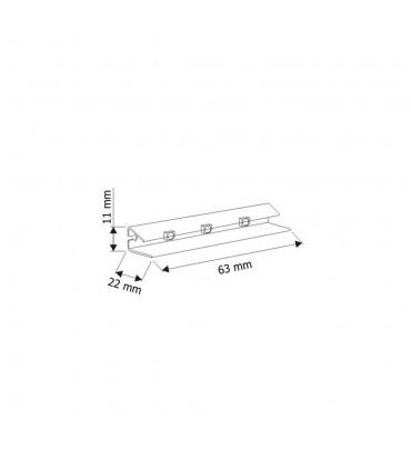 DESIGN LIGHT LED PVC RGB clip for glass shelving - size