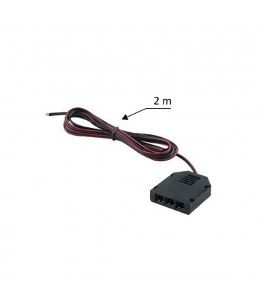 2m 3-way mini connector to bare wires splitter