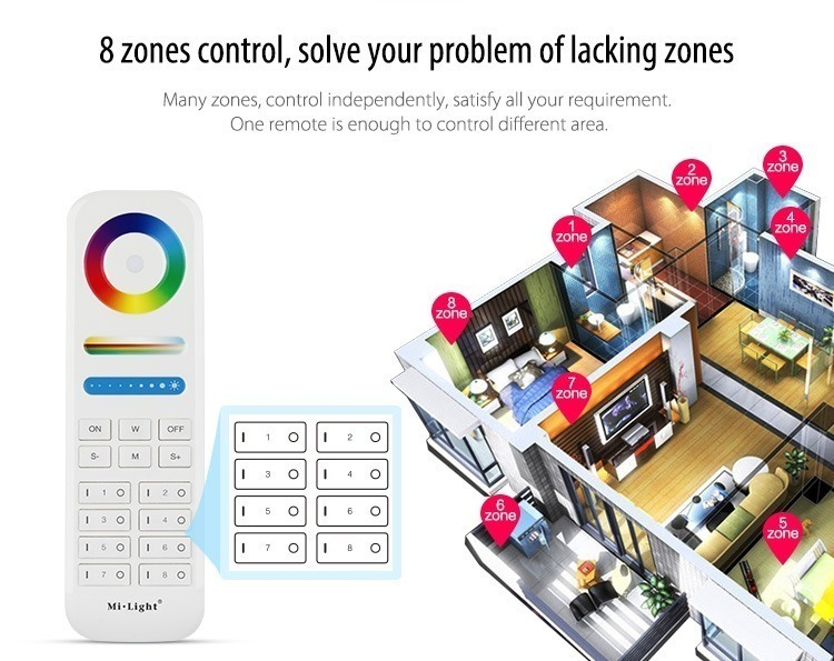8 zones control home design house rooms lighting