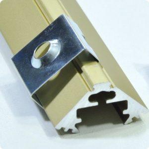 ALU-LED corner aluminium LED profile P3 pine holder